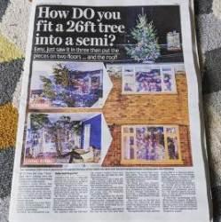 [서소문사진관]영국 괴짜 발명가의 '지붕뚫고 나온 트리'등 각양각색 트리들
