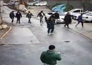 광주조폭 둘러싼 인천조폭···현장 덮친 경찰, 영상 보니