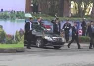 김정은, 6시간만에 숙소 나서…첫 일정은 北대사관 방문