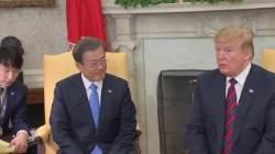 """트럼프 """"남북회담 통해 北입장 알려달라…金과 대화 문 열려있어"""""""
