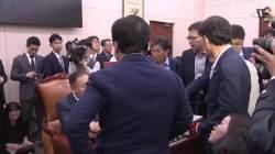 """한국당 """"광화문 천막당사 검토"""" 국회 보이콧 태세"""
