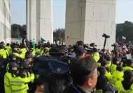 황교안, 국회 앞 패트 규탄집회…한국당 지지자들 경찰과 충돌