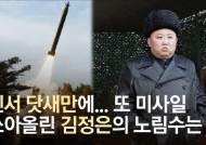 [영상] 친서 닷새 뒤 미사일 쐈다···김정은이 노린 3가지
