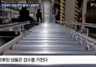 [영상]주문 30분만에 택배차 싣는다, 마트 천장 '레일 비밀'