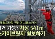 높이 541m '하늘 위 다리'···스카이브릿지서 방방 뛰었더니…