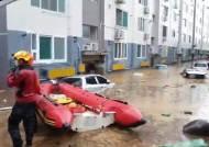 [영상]10분만에 물에 잠긴 대전 아파트…고무보트 타고 탈출