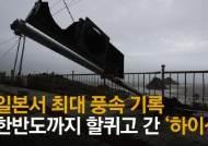 물바다 된 도로 차량 '엉금엉금', 바닷물 넘쳐 주민대피령…'하이선 직격탄'