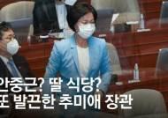 """秋 """"딸 가게 공짜로 먹나""""…김근식 """"귀 먹었나, 동문서답 대단"""""""