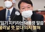 """""""한동훈 비호"""" 때리자···윤석열 """"난 인사권도 없는 식물총장"""""""