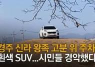 """경주 고분에 SUV 바퀴 자국 쫙…문화재청 """"운전자 고발 진행중"""""""