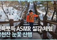 [영상] 뽀드득뽀드득 ASMR 실감체험···'호남 금강산' 강천산 눈꽃 산책