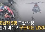 제주 성산일출봉 해안서 어선 좌초, 선원 5명 14시간 만에 구조