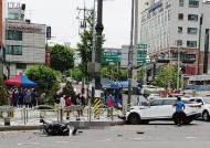 """""""박신영 車 빠른속도로 직진"""" 오토바이 충돌 순간 영상 보니"""