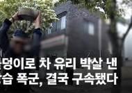 """""""내 욕했지?"""" 냅다 돌 던졌다, 블박 찍힌 공포의 대전 폭군 [영상]"""
