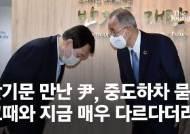 """반기문 만난 尹, 중도하차 묻자 """"그때와 지금 매우 다르다더라"""""""