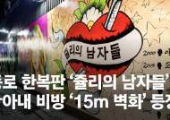 종로 한복판 '쥴리의 남자들'…尹아내 비방 '15m 벽화' 등장[영상]