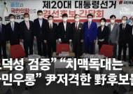 """""""도덕성 검증"""" """"치맥독대는 국민우롱"""" 尹저격한 野후보들"""