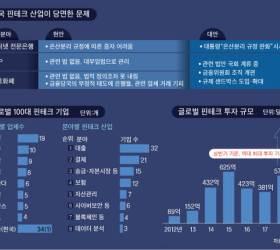 금융과 IT 사이서 길 잃은 <!HS>핀테크<!HE> … 글로벌 톱 100 기업에 한국 1곳, 중국은 9곳