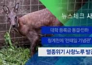 [뉴스체크|사회] 멸종위기 사향노루 발견