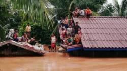 지붕 위 3천명에 구조 손길…태국, 동굴구조대 라오스로