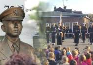 '고 윤영하 소령 모교' 영국 초등학교 찾은 해군장병들