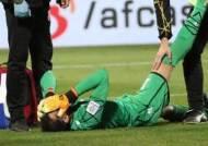 눕고 또 눕고…침대축구의 정수 보여준 바레인 골키퍼