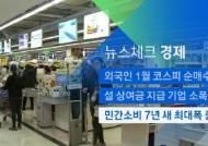 [뉴스체크|경제] 민간소비 7년 새 최대폭 증가
