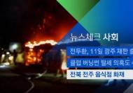 [뉴스체크|사회] 전주서 음식점 화재…인명피해 없어