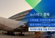 [뉴스체크|경제] 아시아나항공 주식거래 정지