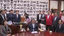 '오신환 1표' 놓고 대충돌…한국당, 의장실 점거 '아수라장'