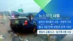 [뉴스체크|사회] 영암서 교통사고…일가족 4명 사상