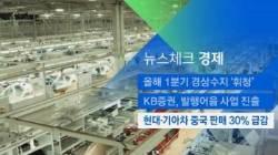 [뉴스체크|경제] 현대·기아차 중국 판매 30% 급감