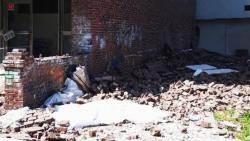 부산대 미술관 외벽 벽돌 붕괴…60대 환경미화원 참변