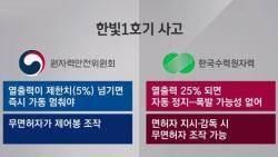 한빛 1호기 '가동 중지' 상황에도…원전 안전성 도마