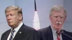 """트럼프 """"북, 작은 무기 발사""""…'제재 위반' 볼턴과 선 긋기"""