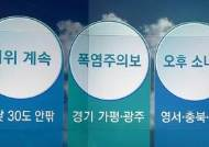 [오늘의 날씨 키워드] 더위 계속·폭염주의보·오후 소나기