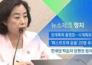 [뉴스체크|정치] 한국당 박순자 당원권 정지 6개월