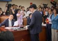 정개특위 '선거법' 의결…한국당 반발 속 '아수라장'