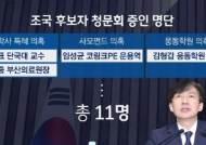 조국 청문회 증인 11명 합의…한국당 제시안 중 1명 제외