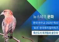 [뉴스체크|문화] 흑산도서 희귀철새 솔잣새 17마리