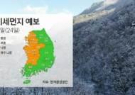 [날씨] 강원·경북 산지에 눈…일부 미세먼지 '나쁨'