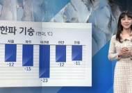 [날씨] 한파 계속 '서울 영하 12도'…내일 낮 풀려