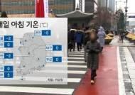 [날씨] 대체로 맑고 아침 기온 영하권으로 '뚝'