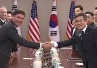 한·미 국방장관, 연합 훈련·방위비 분담금 등 현안 논의