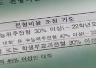 현 고2 대입, 정시 비율 확대…서울대 30% 연·고대 40%