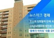 [뉴스체크|경제] '통매각 아파트' 대출 규제 위반