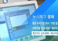 [뉴스체크|경제] 개인카드 소비 회복…재난지원금 영향