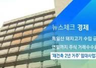 [뉴스체크|경제] '재건축 2년 거주' 임대사업자 제외