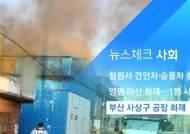 [뉴스체크|사회] 부산 사상구 공장 화재