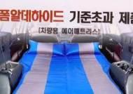 '차박용' 일부 매트·베개서 유해물질…기준치 최대 290배